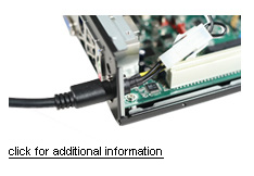 M350 optional feature - hole for 4PIN Mini-DIN power cable compatible